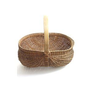 "Vintage Splint ""Buttocks"" Egg Basket; Farmhouse"